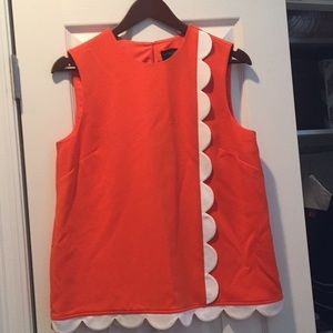 Victoria Beckham for Target Orange Scallop Top
